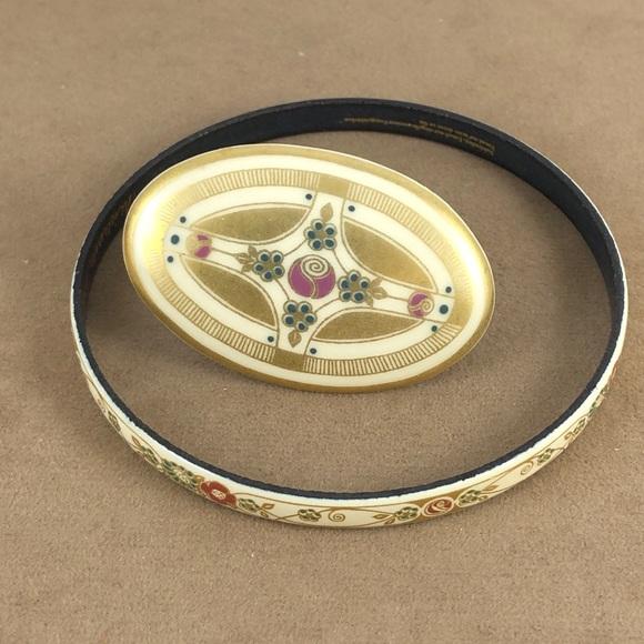 Michaela Frey Jewelry - Vintage Michaela Frey Enameled  Set Bracelet & Pin